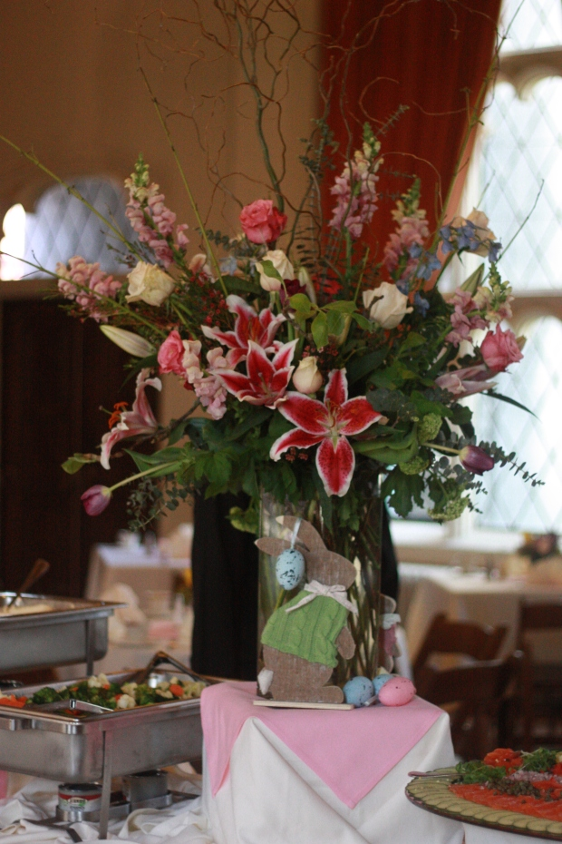 Gorgeous floral arrangement in the Ballroom