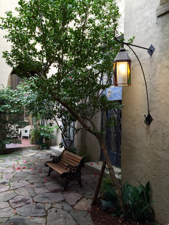 West courtyard lamp